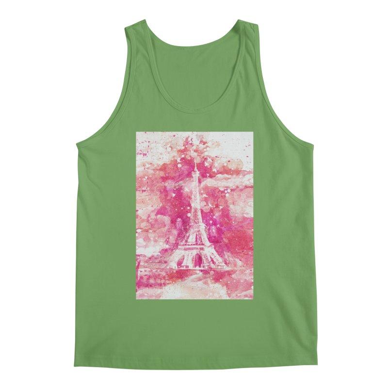 Artistic XLIV - Eiffel tower Paris Men's Tank by Art Design Works