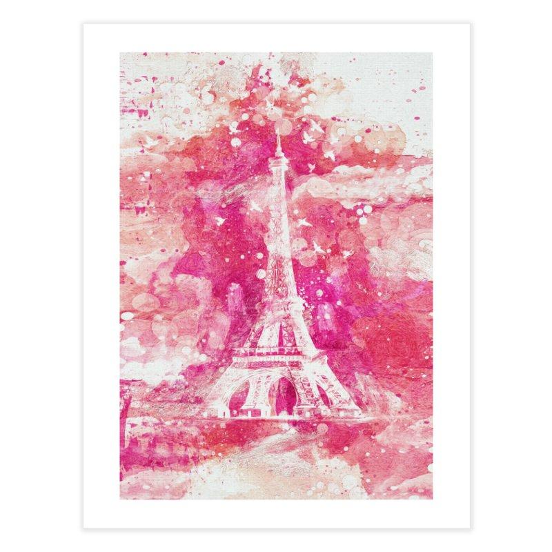 Artistic XLIV - Eiffel tower Paris Home Fine Art Print by Art Design Works