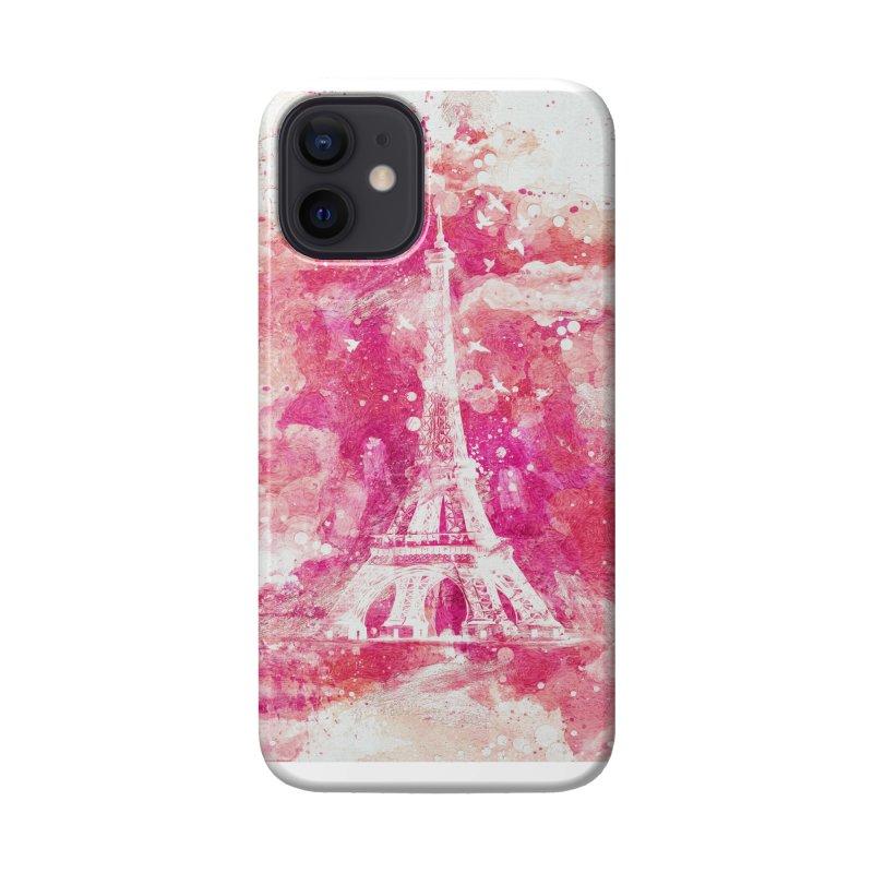 Artistic XLIV - Eiffel tower Paris Accessories Phone Case by Art Design Works