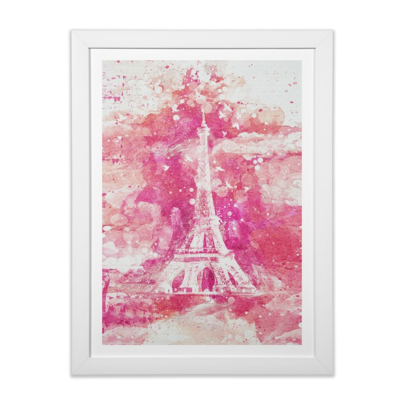 Artistic XLIV - Eiffel tower Paris in Framed Fine Art Print White by Abstract designs