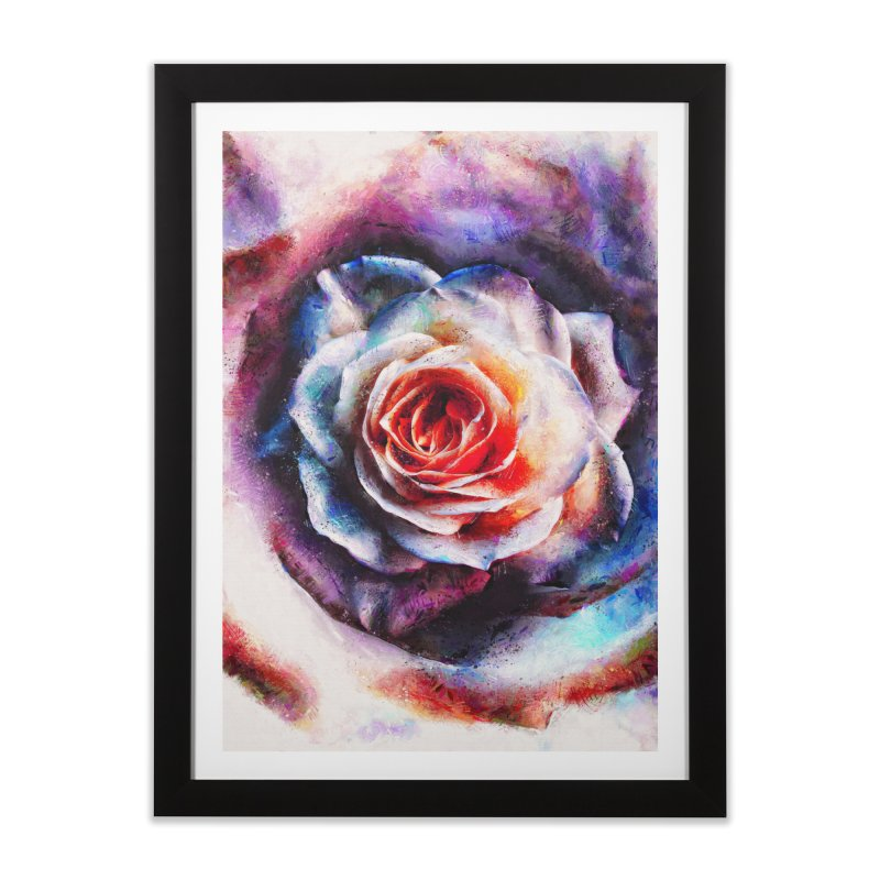 Artistic - XXV - Abstract Rose in Framed Fine Art Print Black by Abstract designs