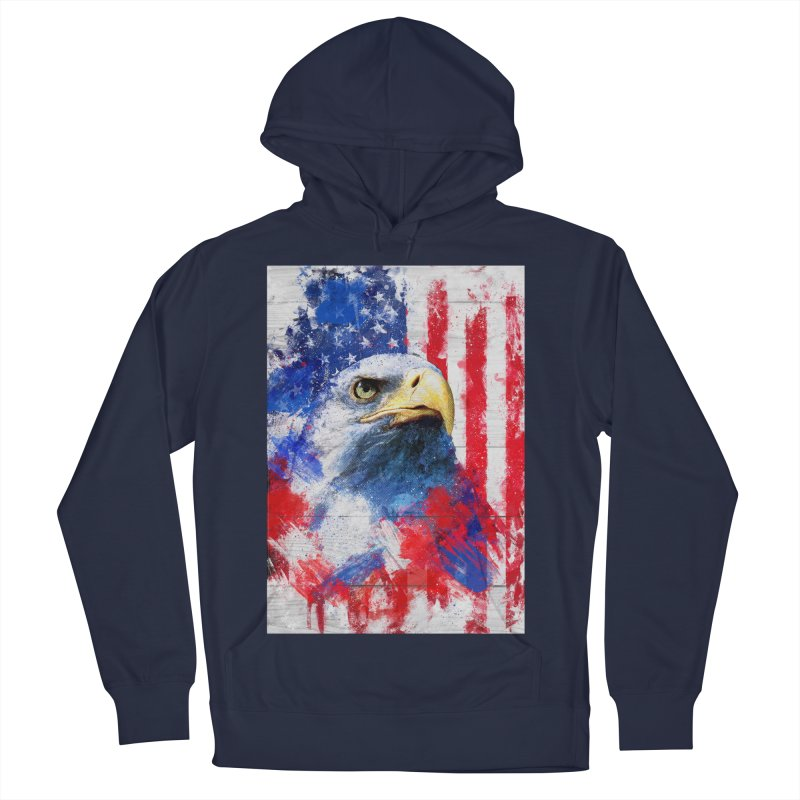 Artistic XLIII - American Pride Women's Pullover Hoody by Abstract designs