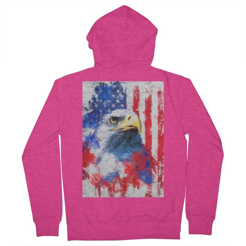 Artistic XLIII - American Pride Women's Zip-Up Hoody by Abstract designs