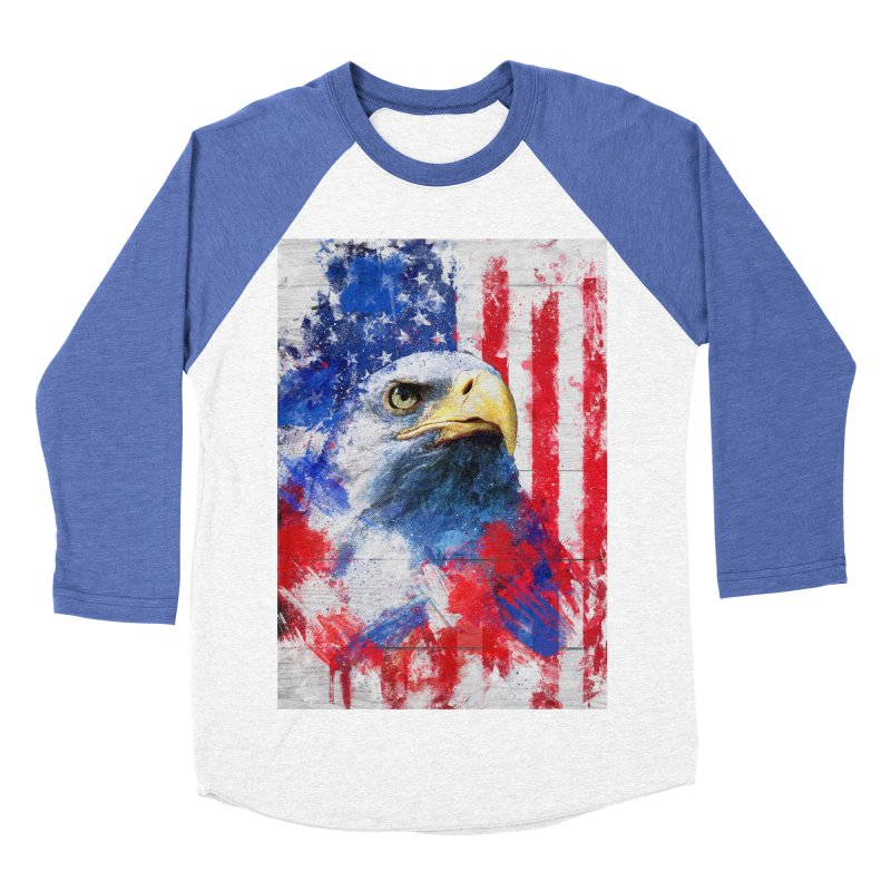 Artistic XLIII - American Pride Women's Baseball Triblend T-Shirt by Abstract designs