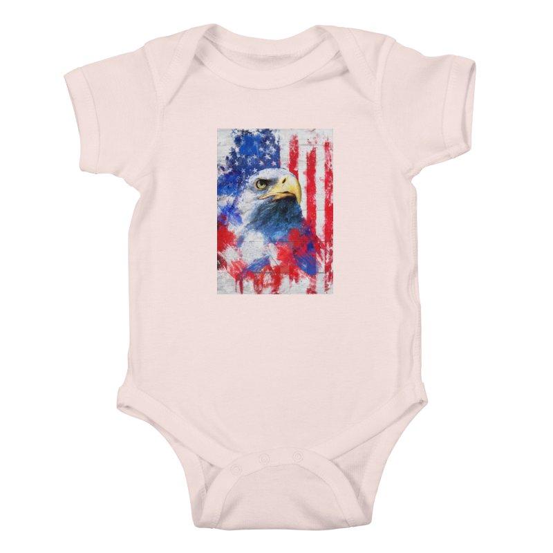 Artistic XLIII - American Pride Kids Baby Bodysuit by Abstract designs