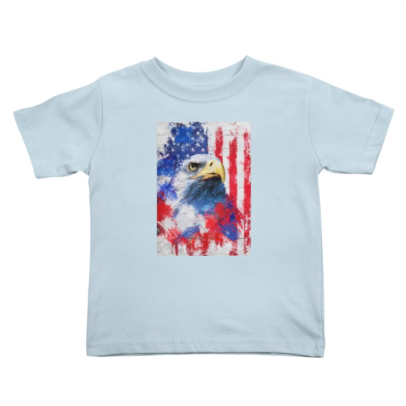 Artistic XLIII - American Pride Kids Toddler T-Shirt by Abstract designs
