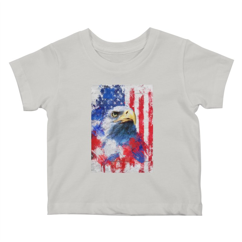 Artistic XLIII - American Pride Kids Baby T-Shirt by Abstract designs
