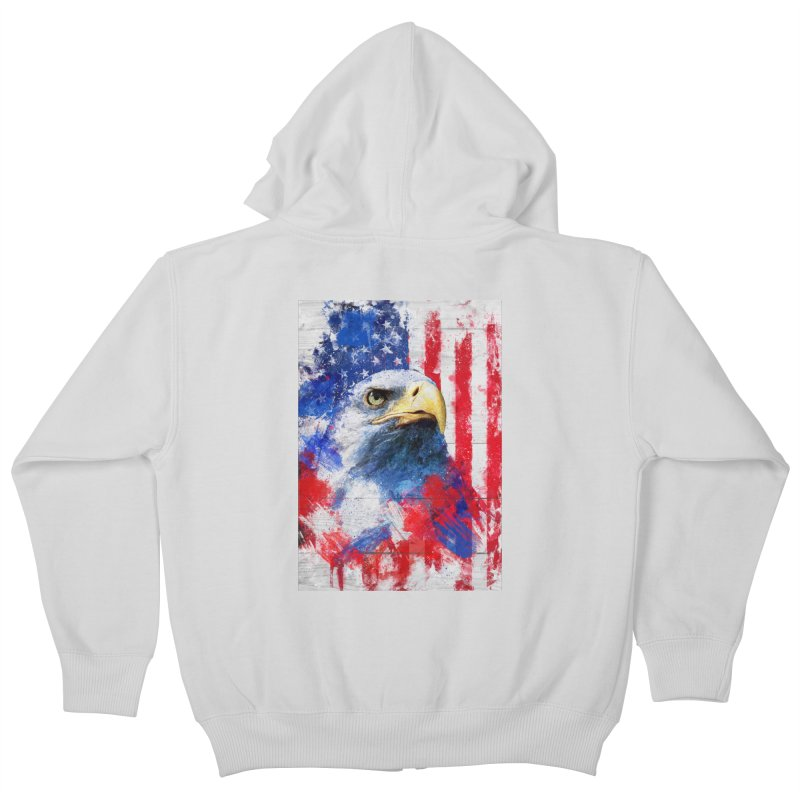 Artistic XLIII - American Pride Kids Zip-Up Hoody by Abstract designs
