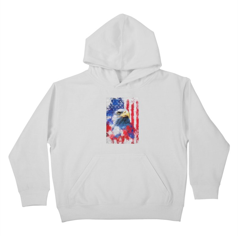 Artistic XLIII - American Pride Kids Pullover Hoody by Abstract designs