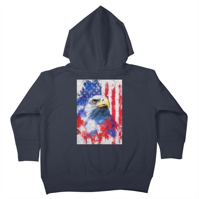 Artistic XLIII - American Pride Kids Toddler Zip-Up Hoody by Abstract designs