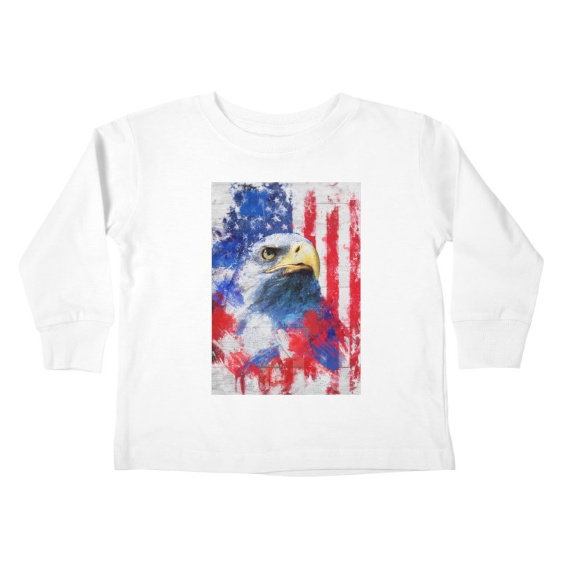 Artistic XLIII - American Pride Kids Toddler Longsleeve T-Shirt by Abstract designs