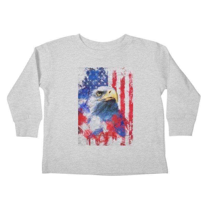 Artistic XLIII - American Pride Kids Toddler Longsleeve T-Shirt by Abstract designs