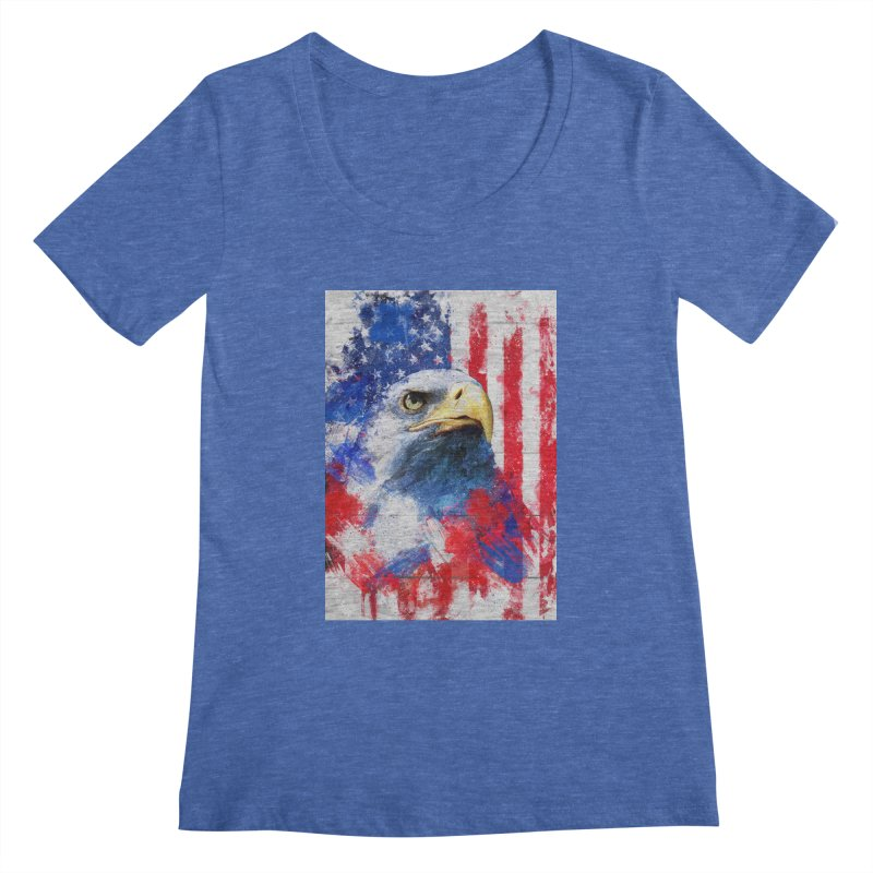 Artistic XLIII - American Pride Women's Scoopneck by Abstract designs