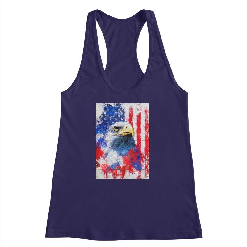 Artistic XLIII - American Pride Women's Racerback Tank by Abstract designs