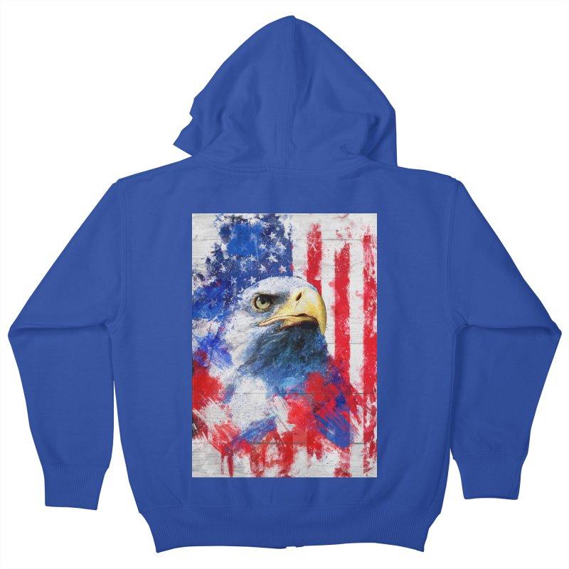 Artistic XLIII - American Pride Kids Zip-Up Hoody by Abstract designs