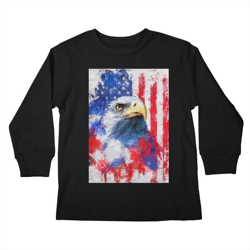Artistic XLIII - American Pride Kids Longsleeve T-Shirt by Abstract designs