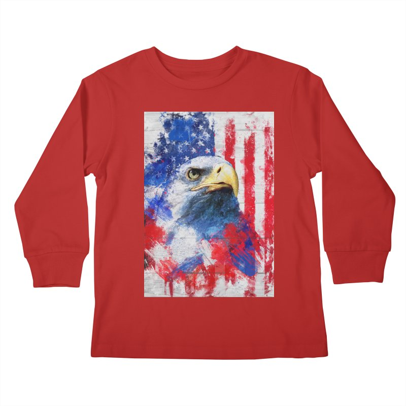 Artistic XLIII - American Pride Kids Longsleeve T-Shirt by Abstract designs