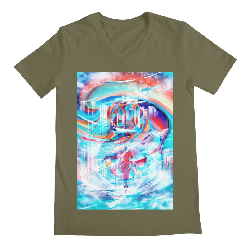 Artistic LXIV - Transcendence Men's V-Neck by Abstract designs