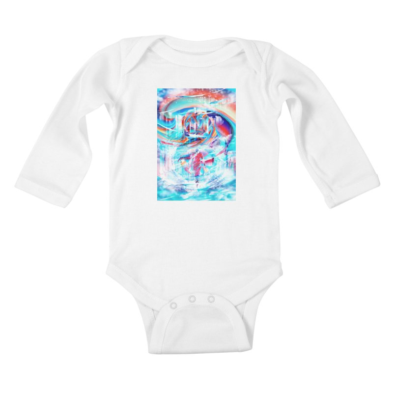 Artistic LXIV - Transcendence Kids Baby Longsleeve Bodysuit by Abstract designs