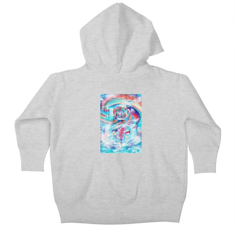 Artistic LXIV - Transcendence Kids Baby Zip-Up Hoody by Abstract designs