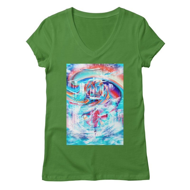 Artistic LXIV - Transcendence Women's V-Neck by Abstract designs