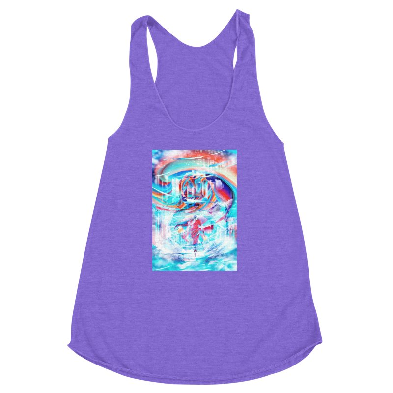 Artistic LXIV - Transcendence Women's Racerback Triblend Tank by Abstract designs