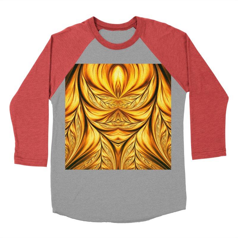Fractal Art XIX Men's Baseball Triblend T-Shirt by Abstract designs
