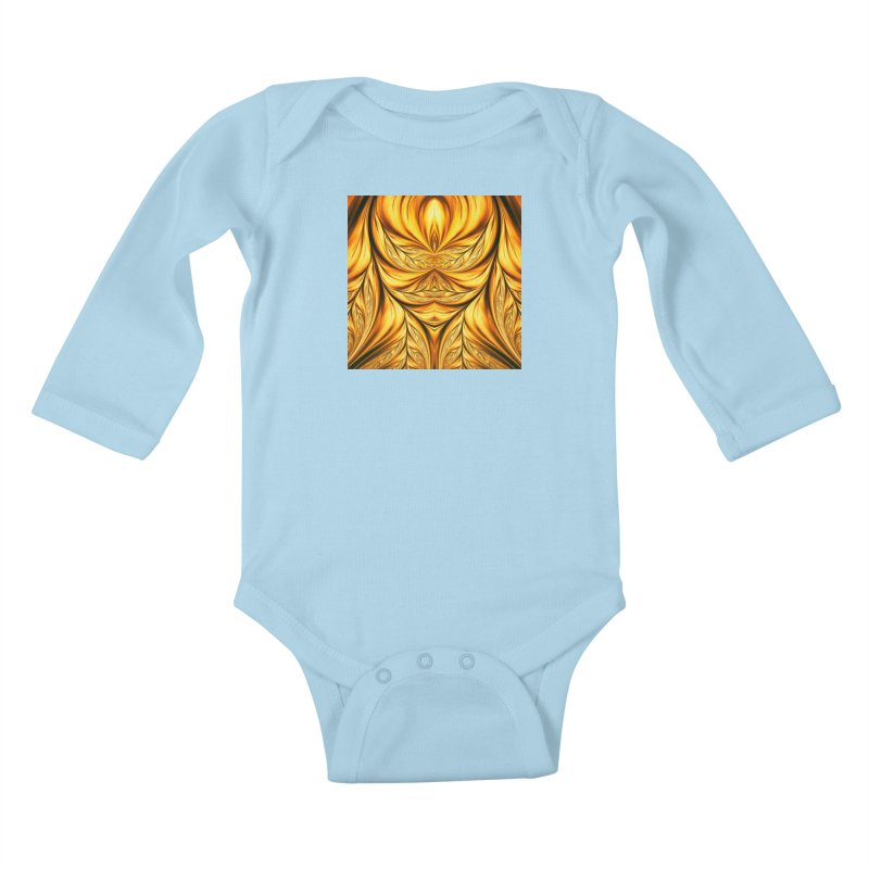 Fractal Art XIX Kids Baby Longsleeve Bodysuit by Abstract designs