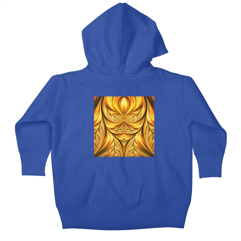 Fractal Art XIX Kids Baby Zip-Up Hoody by Abstract designs