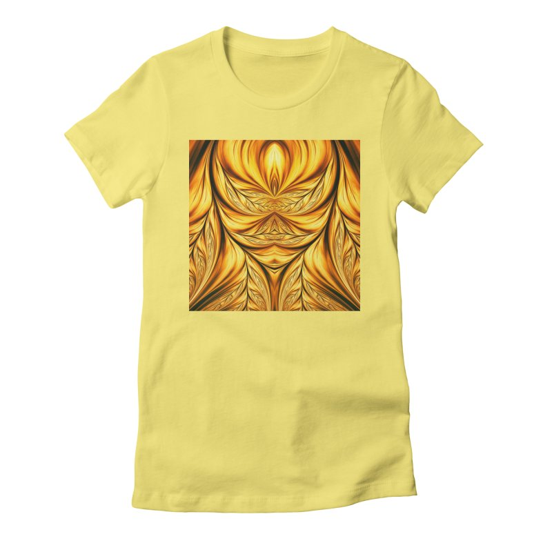 Fractal Art XIX Women's Fitted T-Shirt by Abstract designs