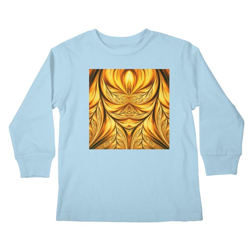 Fractal Art XIX Kids Longsleeve T-Shirt by Abstract designs