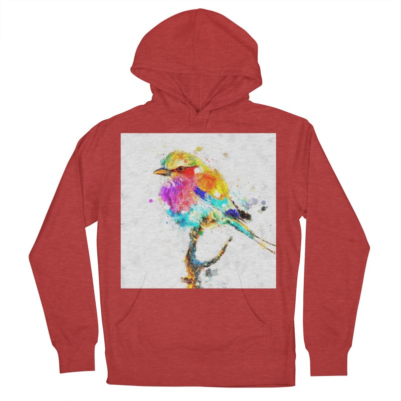 Artistic IV - Colorful Bird Women's Pullover Hoody by Abstract designs