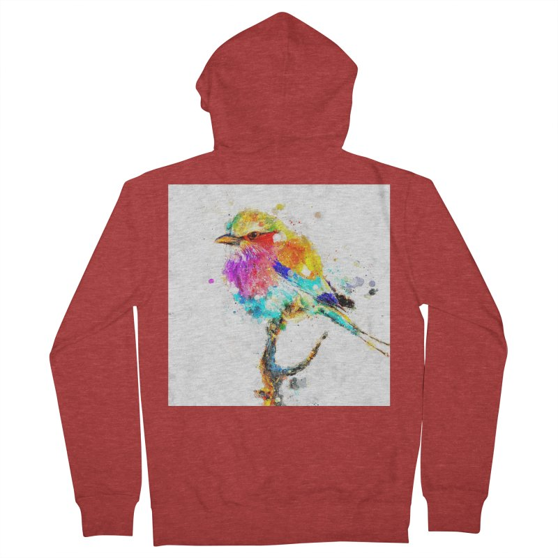 Artistic IV - Colorful Bird Women's Zip-Up Hoody by Abstract designs