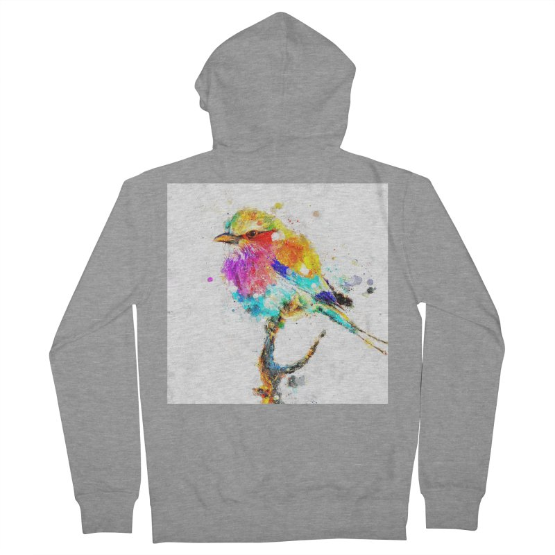 Artistic IV - Colorful Bird Men's Zip-Up Hoody by Abstract designs