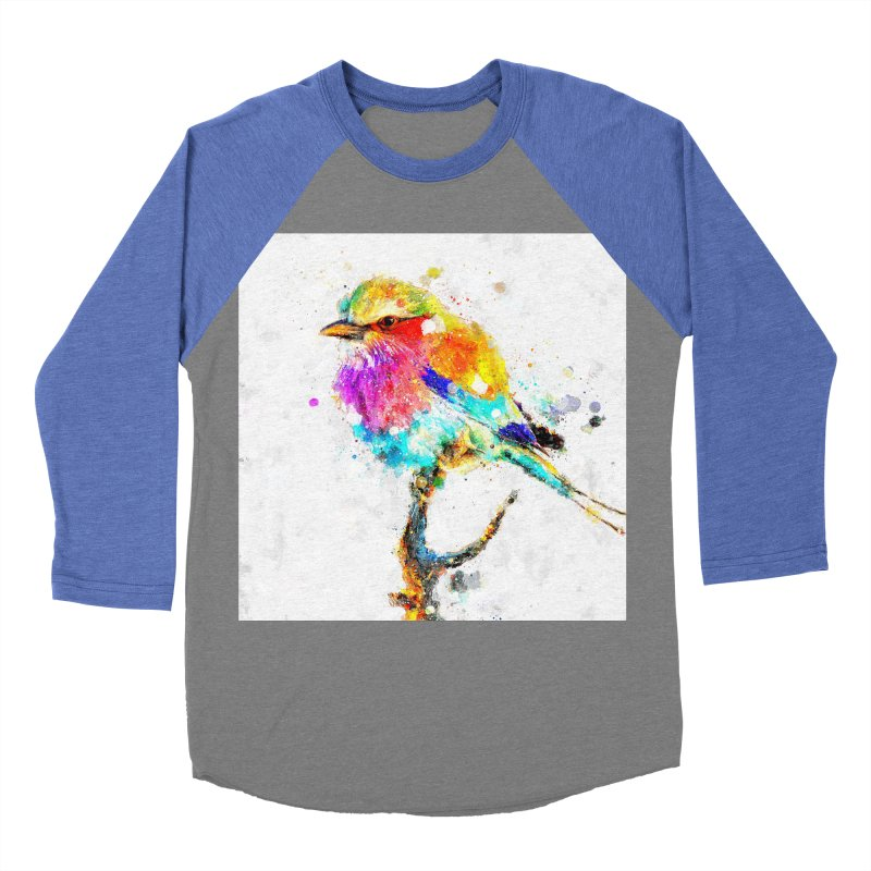 Artistic IV - Colorful Bird Women's Baseball Triblend T-Shirt by Abstract designs
