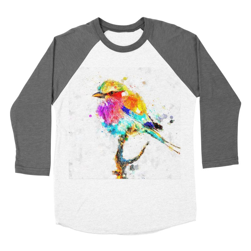 Artistic IV - Colorful Bird Men's Baseball Triblend T-Shirt by Abstract designs