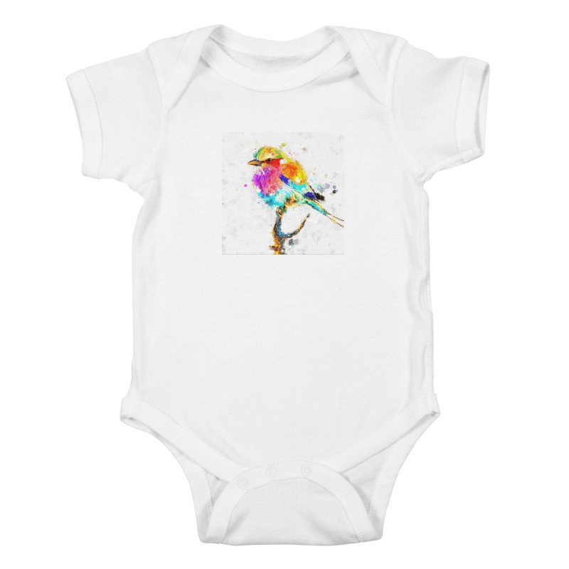 Artistic IV - Colorful Bird Kids Baby Bodysuit by Abstract designs
