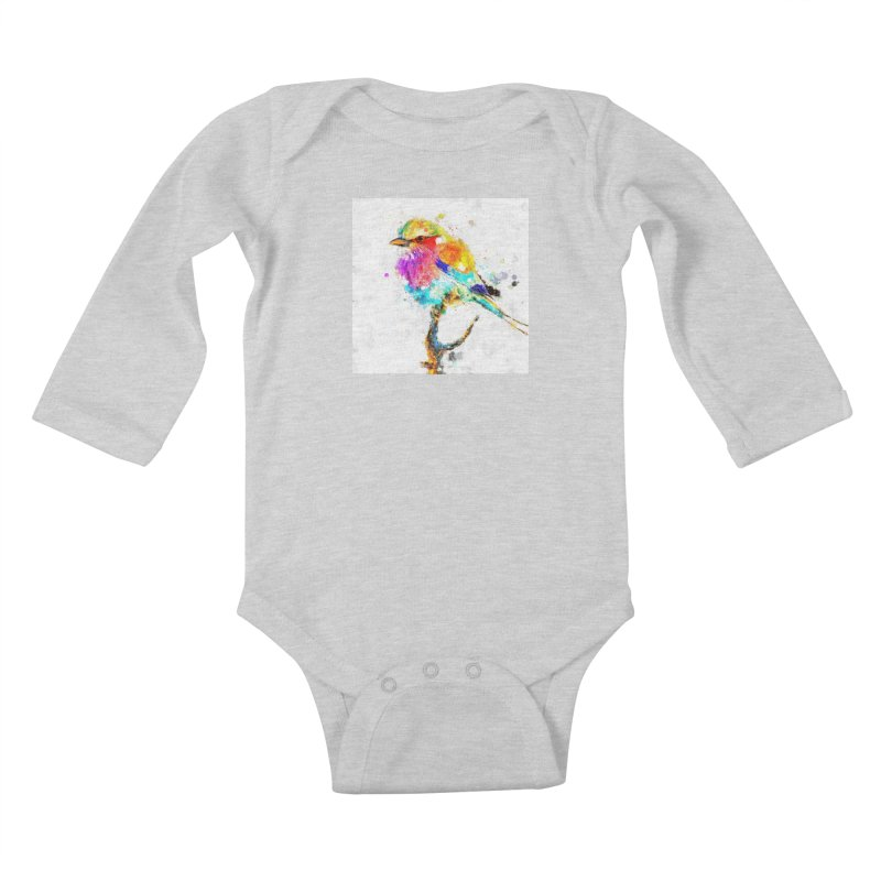 Artistic IV - Colorful Bird Kids Baby Longsleeve Bodysuit by Abstract designs