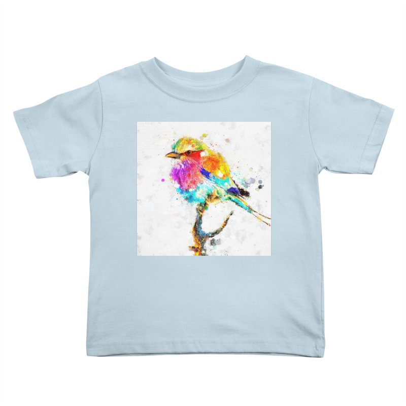 Artistic IV - Colorful Bird Kids Toddler T-Shirt by Abstract designs