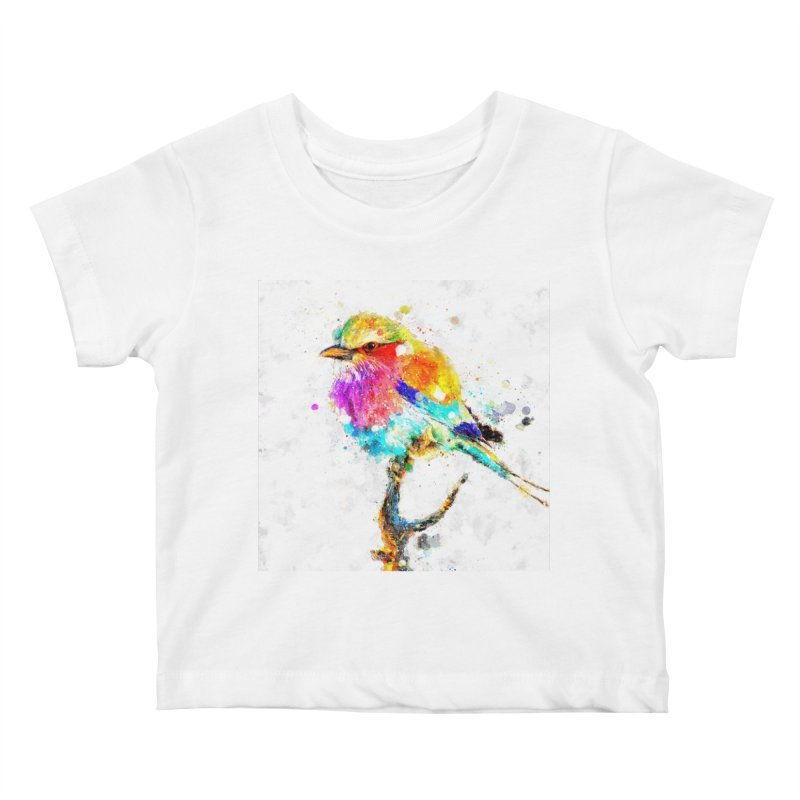 Artistic IV - Colorful Bird Kids Baby T-Shirt by Abstract designs