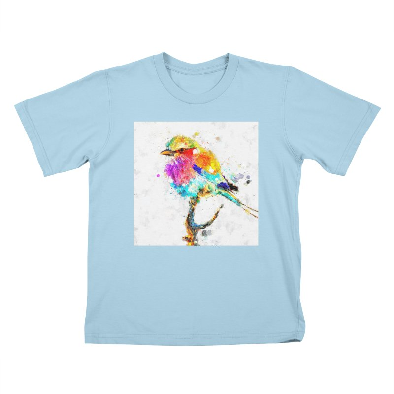 Artistic IV - Colorful Bird Kids T-Shirt by Abstract designs