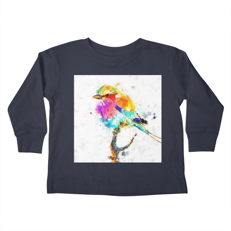 Artistic IV - Colorful Bird Kids Toddler Longsleeve T-Shirt by Abstract designs