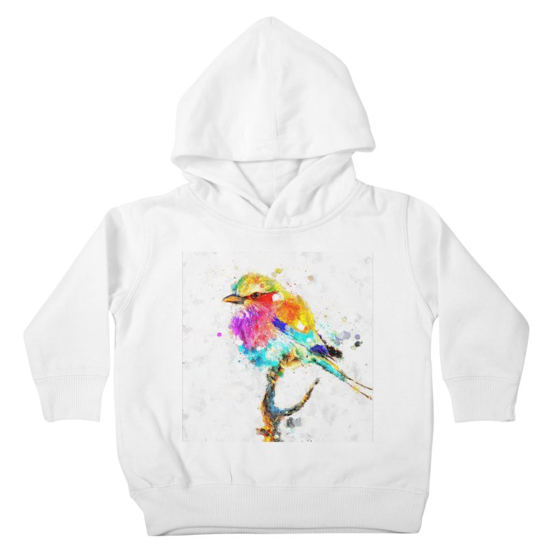 Artistic IV - Colorful Bird Kids Toddler Pullover Hoody by Abstract designs
