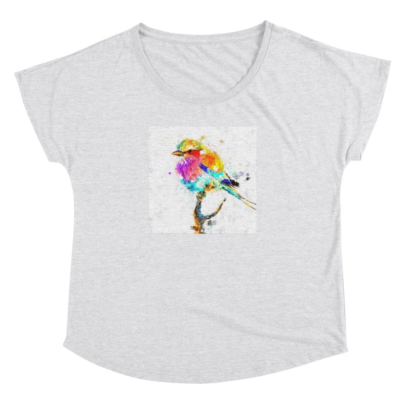 Artistic IV - Colorful Bird Women's Dolman by Abstract designs