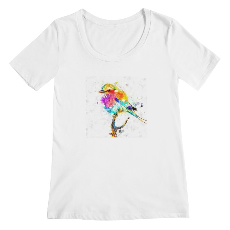 Artistic IV - Colorful Bird Women's Scoopneck by Abstract designs
