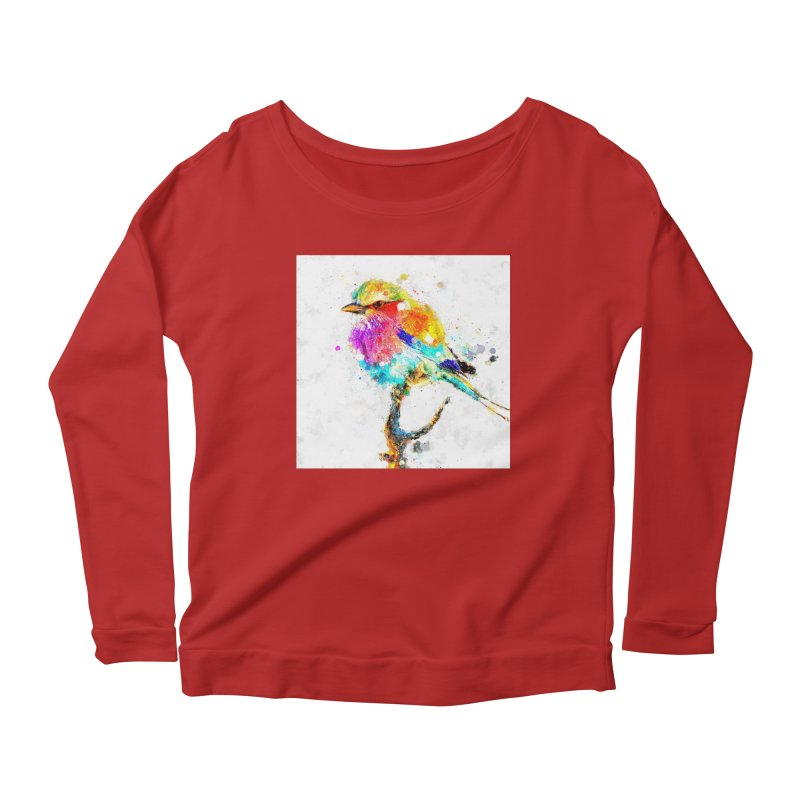 Artistic IV - Colorful Bird Women's Longsleeve Scoopneck  by Abstract designs