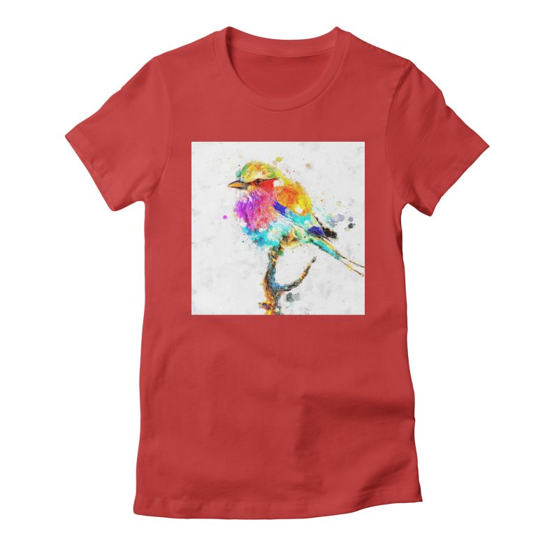 Artistic IV - Colorful Bird Women's Fitted T-Shirt by Abstract designs
