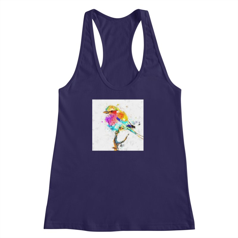 Artistic IV - Colorful Bird Women's Racerback Tank by Abstract designs