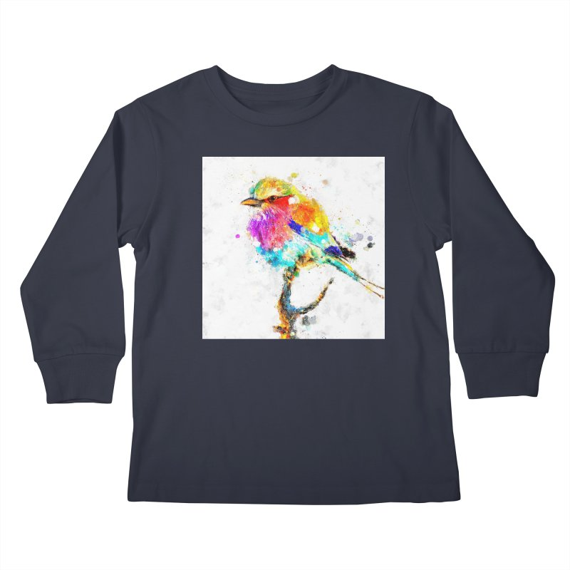 Artistic IV - Colorful Bird Kids Longsleeve T-Shirt by Abstract designs