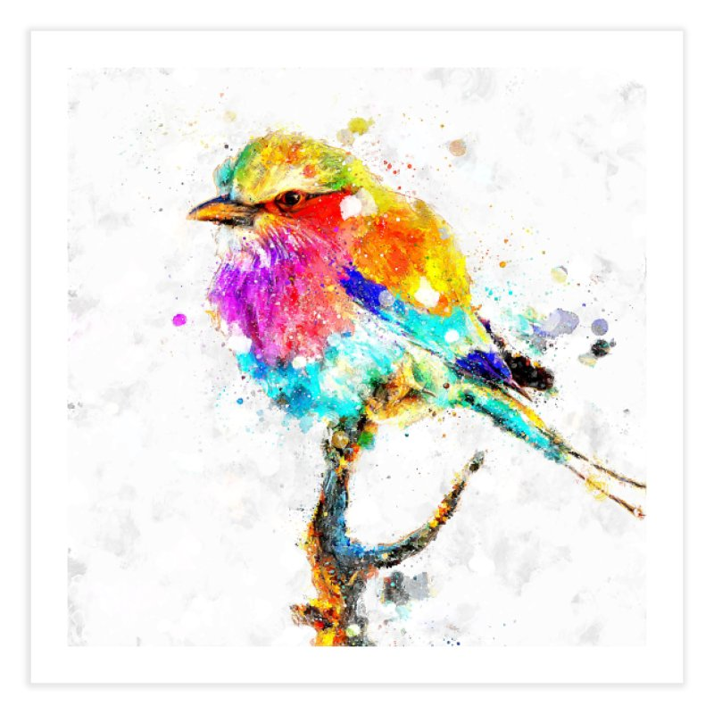 Artistic IV - Colorful Bird Home Fine Art Print by Abstract designs